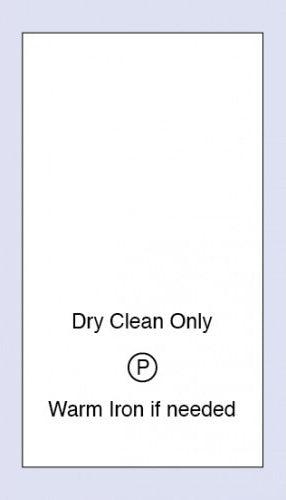 Care Labels Dry Clean Only