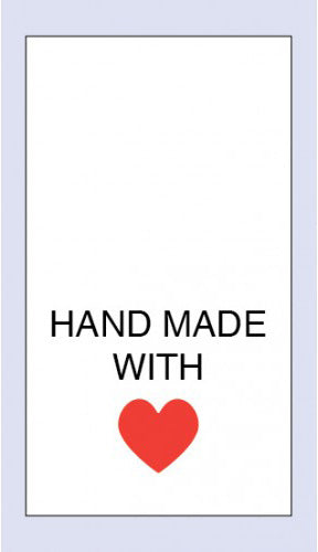 Care Labels Hand Made with Love Red Heart