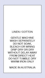 Care Labels Linen Cotton MIA