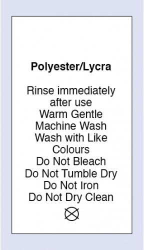 Care Labels Polyester Lycra