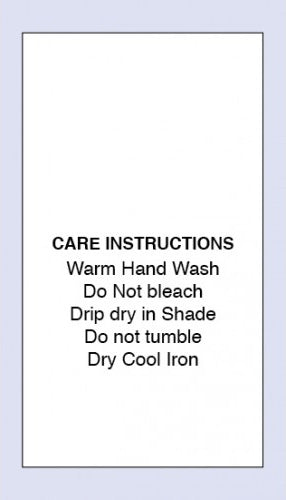 Care Labels Warm Hand Wash