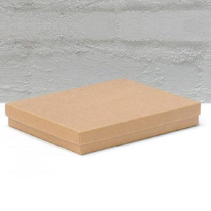 Jewellery Box Large Natural Kraft 140 mm W x 178 mm L x 25 mm D