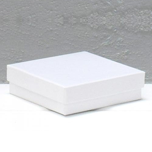 Jewellery Box Small White 89 mm W x 89 mm L X 25 mm D