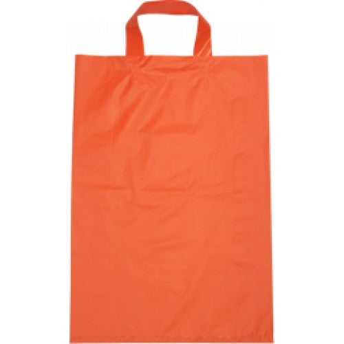 Orange Large Flexi Loop Handle Plastic Bags