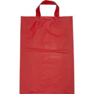 Red Large Flexi Loop Handle Plastic Bags