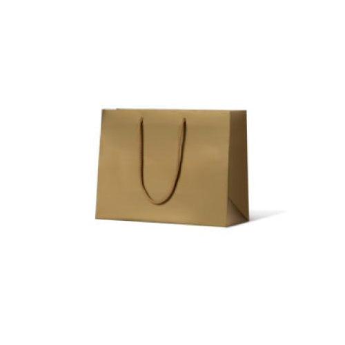 Gold Metallic Small Boutique Matte Paper Bag 250 mm x 330 mm Special