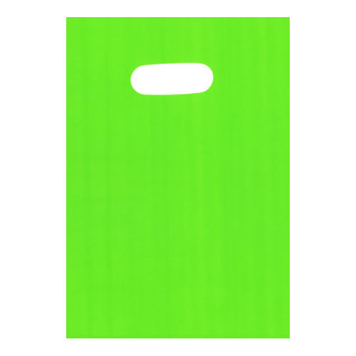 Green Large Plastic Die Cut Bags