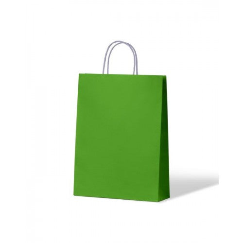 Green Small Paper Carry Bags