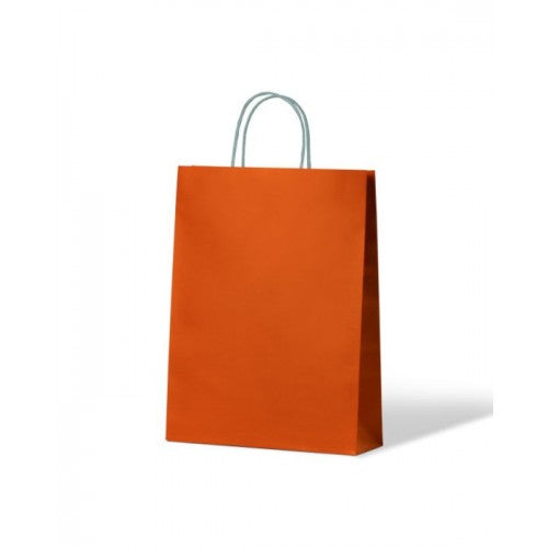 Orange Small Paper Carry Bags