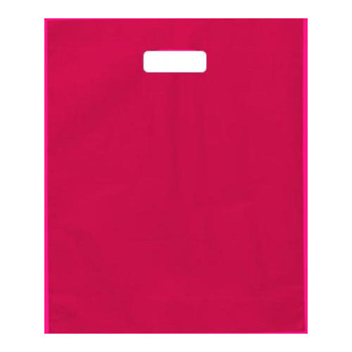 Pink Medium Die Cut Plastic Bags