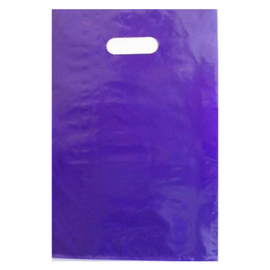 Purple Large Die Cut Plastic Bags