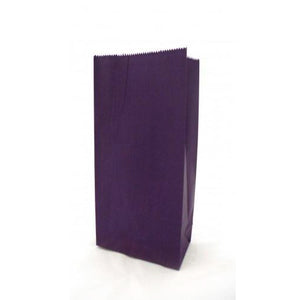 Purple Small Flat Bottom Party Gift Bags