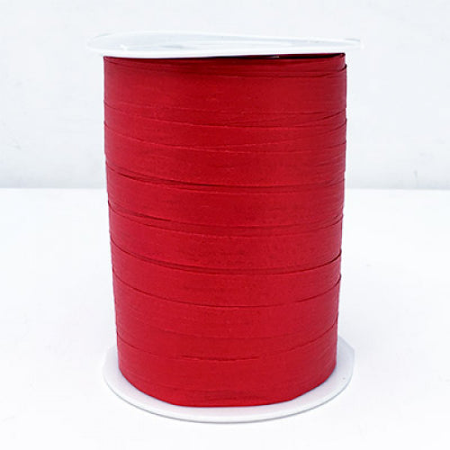 Matte Curling Ribbon 10 mm x 250 Metres Red