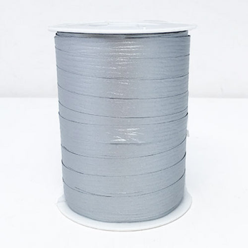 Matte Curling Ribbon 10 mm x 250 Metres Silver