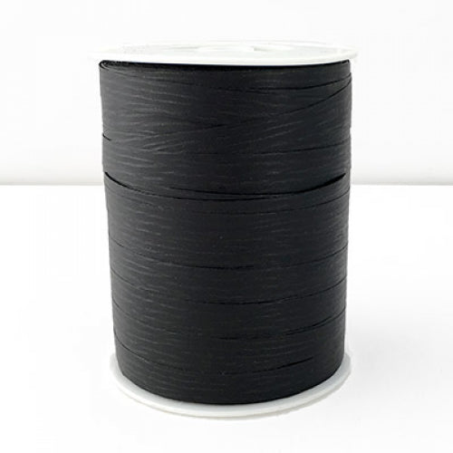 Matte Curling Ribbon Black 10 mm x 250 Metres