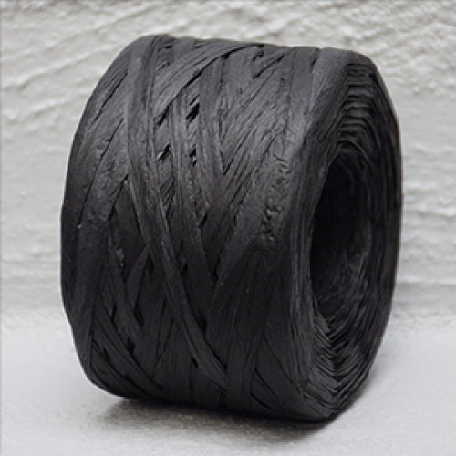 Paper Raffia Black 4 mm Wide