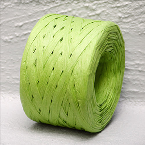 Paper Raffia Citrus Green 4 mm x 100 Metres
