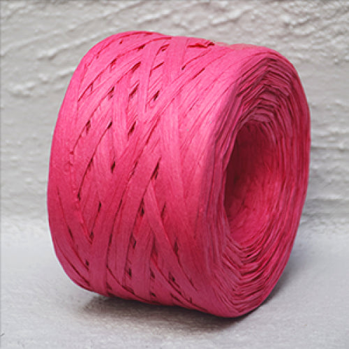 Paper Raffia 4 mm x 100 Metres Hot Pink