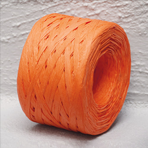 Paper Raffia 4 mm x 100 Metres Orange