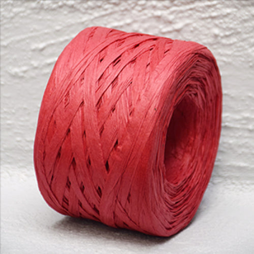 Paper Raffia 4 mm x 100 Metres Red