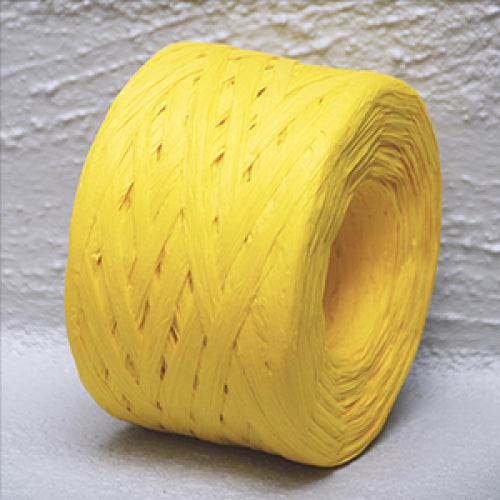 Paper Raffia 4 mm x 100 Metres Yellow