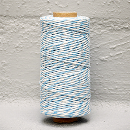 Twine Bakers Blue /White
