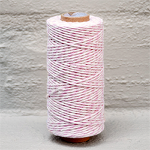 Twine Bakers Pink /White
