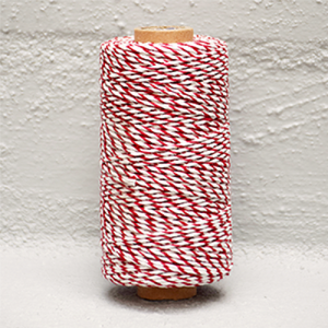 Twine Bakers Red /White