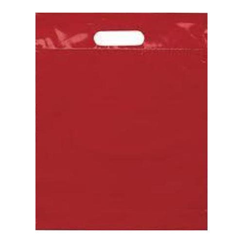 Red Large Die Cut Handle Plastic Bags