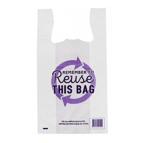 Reusable Singlet Bags Extra Large White Remember to Reuse 38 um