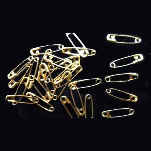 Safety Pins Bright Gold Standard Shape 19mm