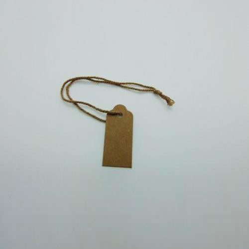 Extra Small Brown Recycled Card Swing Tags