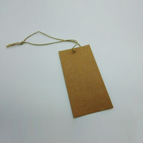 Swing Tags Brown Recycled Card Large
