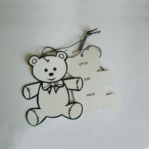 Swing Tags Die Cut Teddy Bear