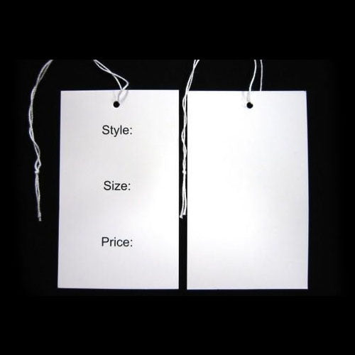 Swing Tags White Style/Size/Price Semi Gloss Card