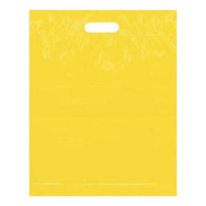 Yellow Large Plastic Bags Die Cut Handles