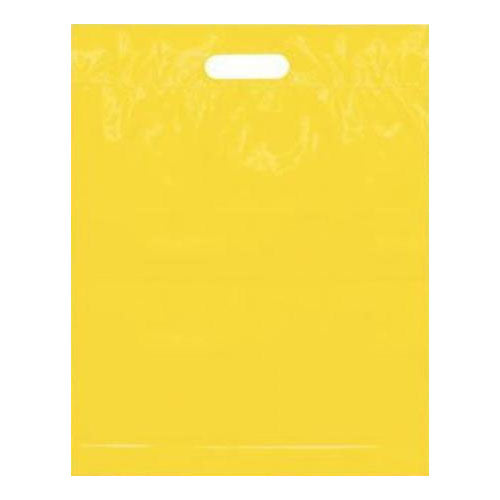 Yellow Medium Plastic Bags Die Cut Handles