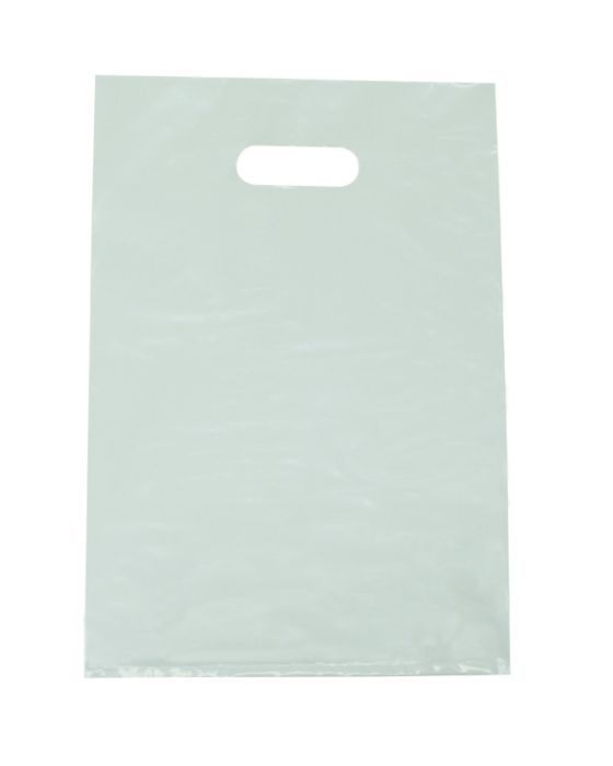 White Small Plastic Bags with Bottom Gusset