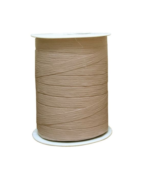 Matte Curling Ribbon Beige 10 mm x 250 Metres