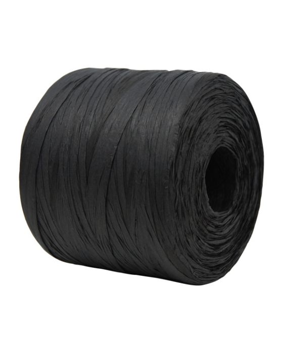 Paper Raffia 4 mm x 500 Metres Bulk Buy Black