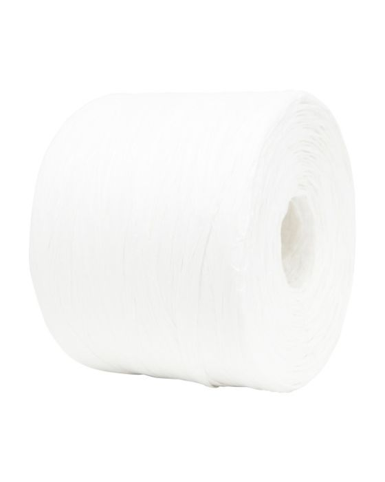 Paper Raffia 4 mm x 500 Metres Bulk Buy Off White