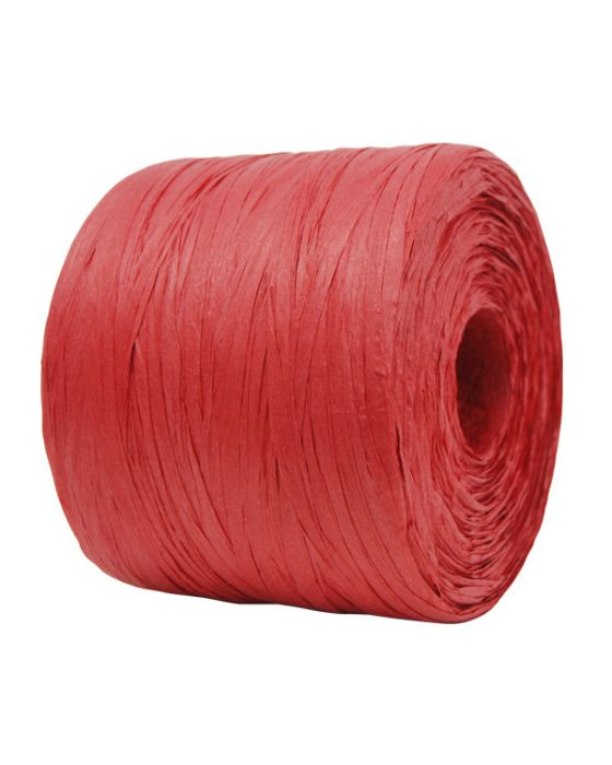 Paper Raffia 4 mm x 500 Metres Red Large Roll