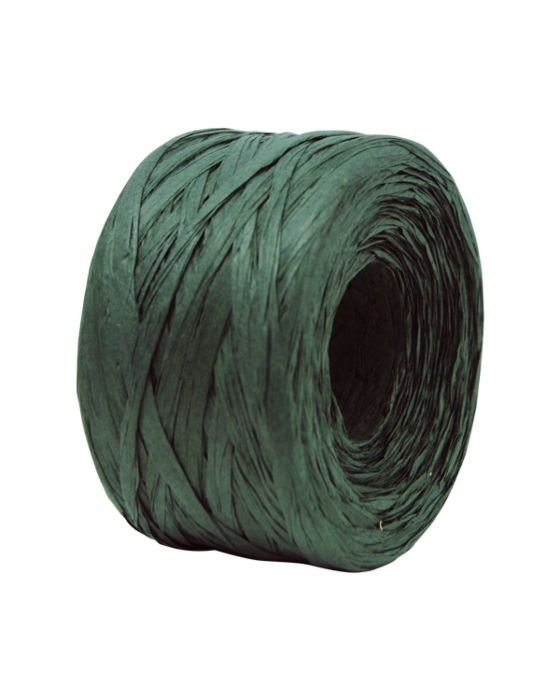 Paper Raffia 4 mm x 100 Metres Hunter Green