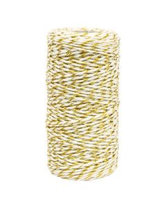 Twine Metallic Twist Gold /White 1.5 mm x 100 metres