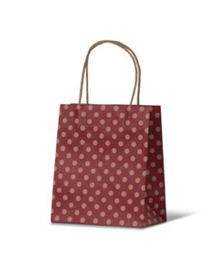Spot Baby Red Paper Carry Bags on Natural Kraft
