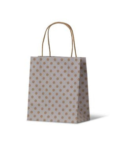 Spot Baby White Paper Carry Bags on Natural Kraft