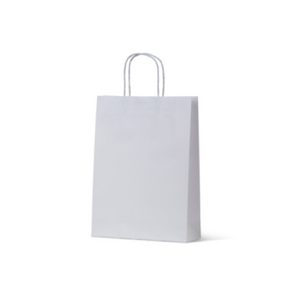 White Kraft Small Paper Carry Bags