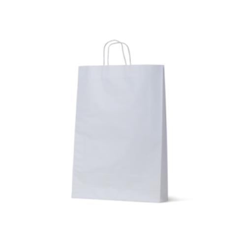 White Kraft Medium Paper Carry Bags