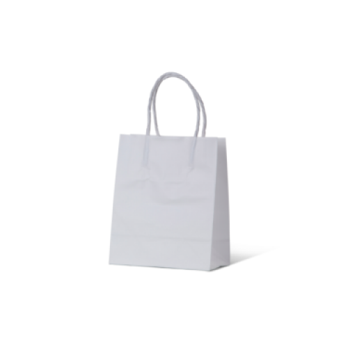 White Kraft Baby Paper Carry Bags