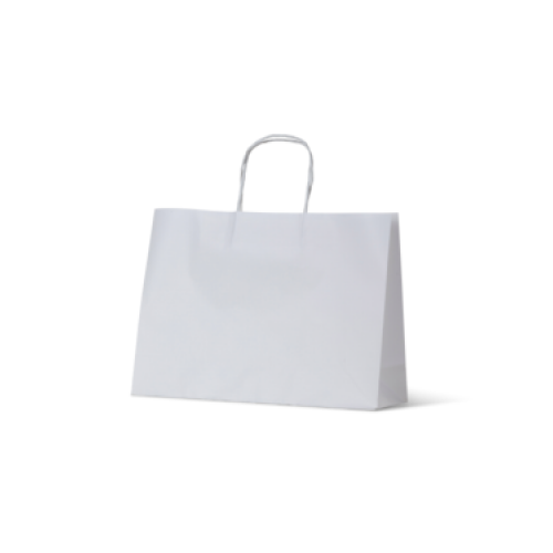 White Kraft Extra Small Boutique Paper Carry Bags